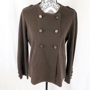 Tory Burch Wool Button Wrap Sweater
